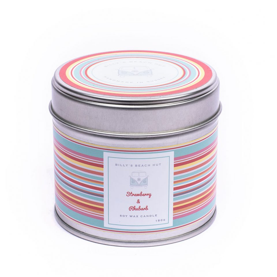 Strawberry & Rhubarb Classic Candle Tin