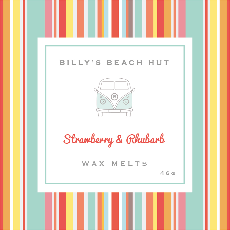 Box of 4 Wax Melts - available in all Billy's Beach Hut Fragrances