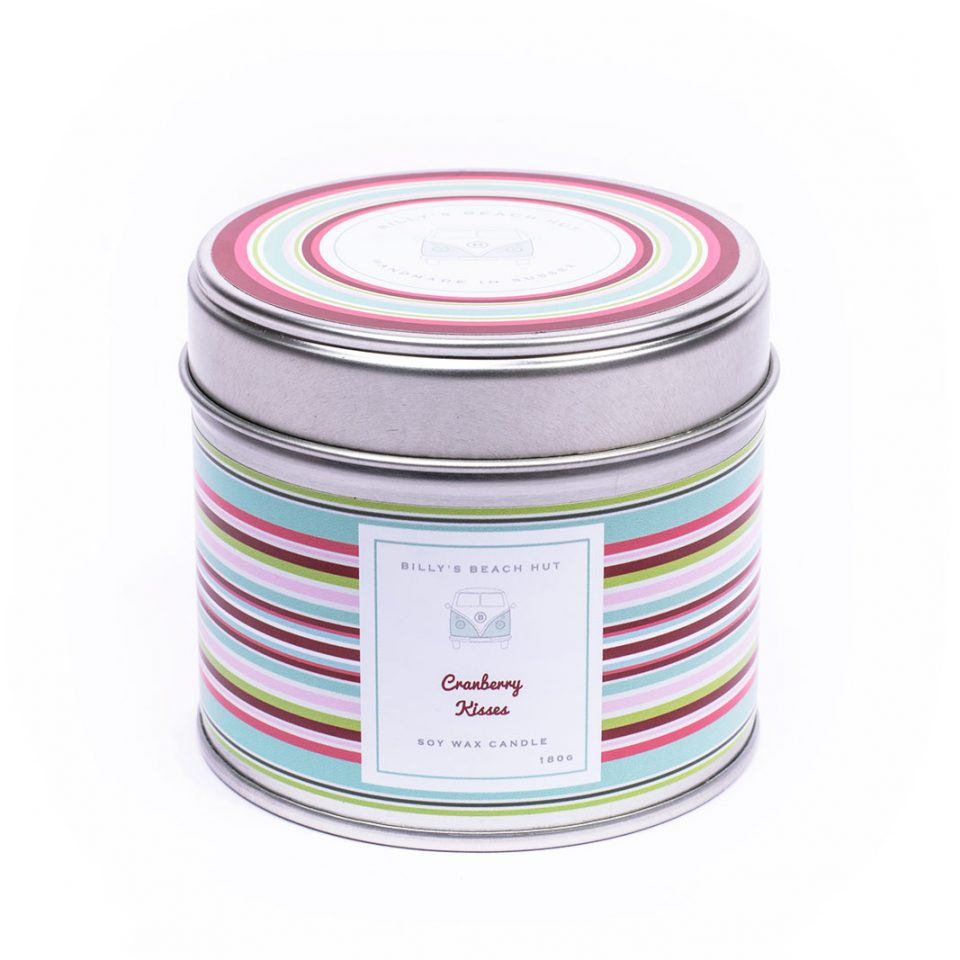 Cranberry Kisses Classic Candle Tin
