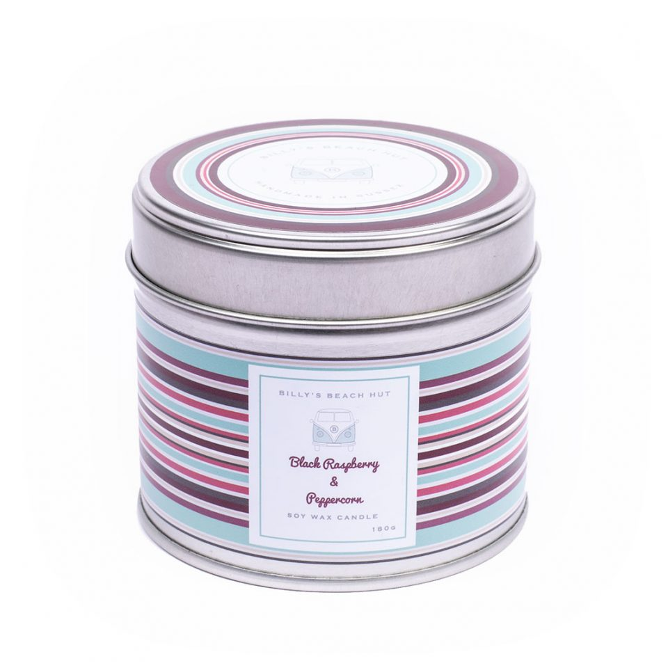 Black Raspberry & Peppercorn Classic Candle Tin