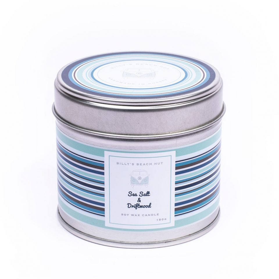 Sea Salt & Driftwood Classic Candle Tin