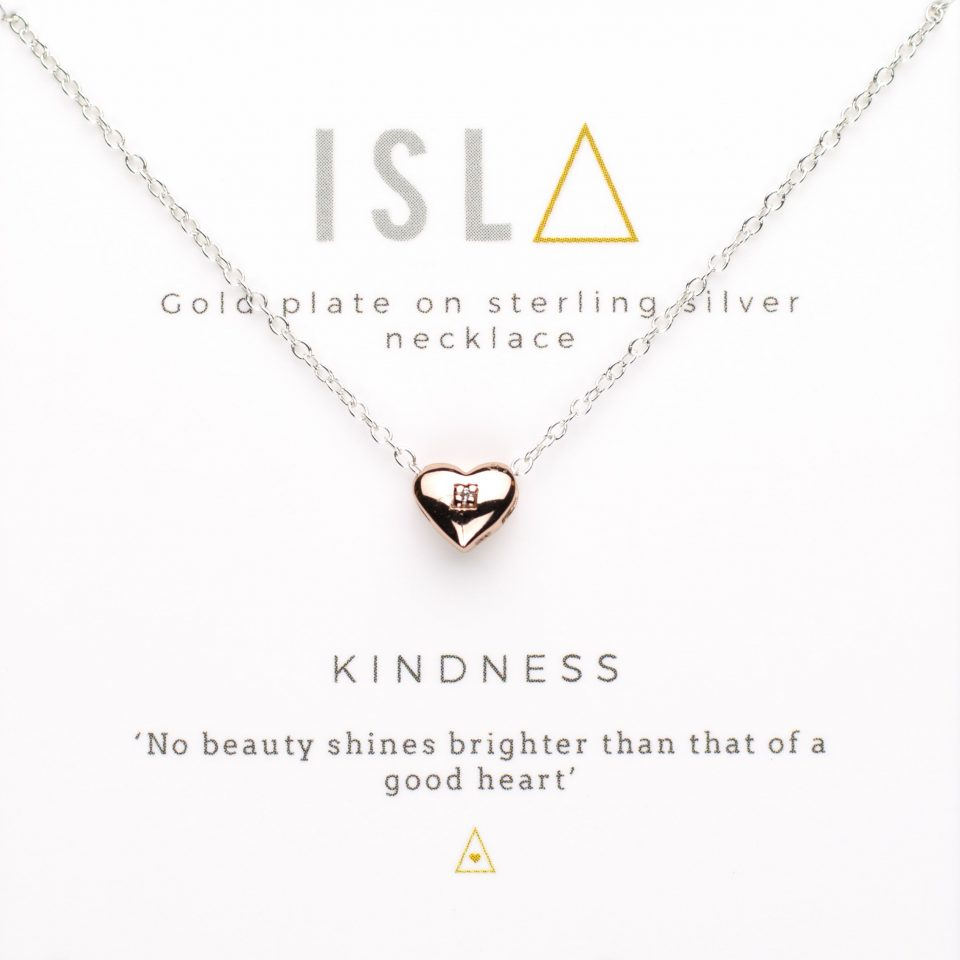 Kindness Rose Gold Plate on Sterling Silver Necklace