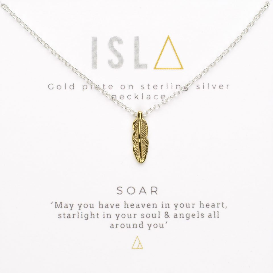 Soar Gold Plate on Sterling Silver Necklace