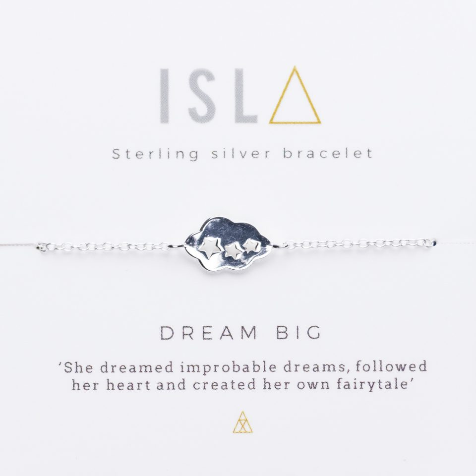Dream Big Sterling Silver Bracelet