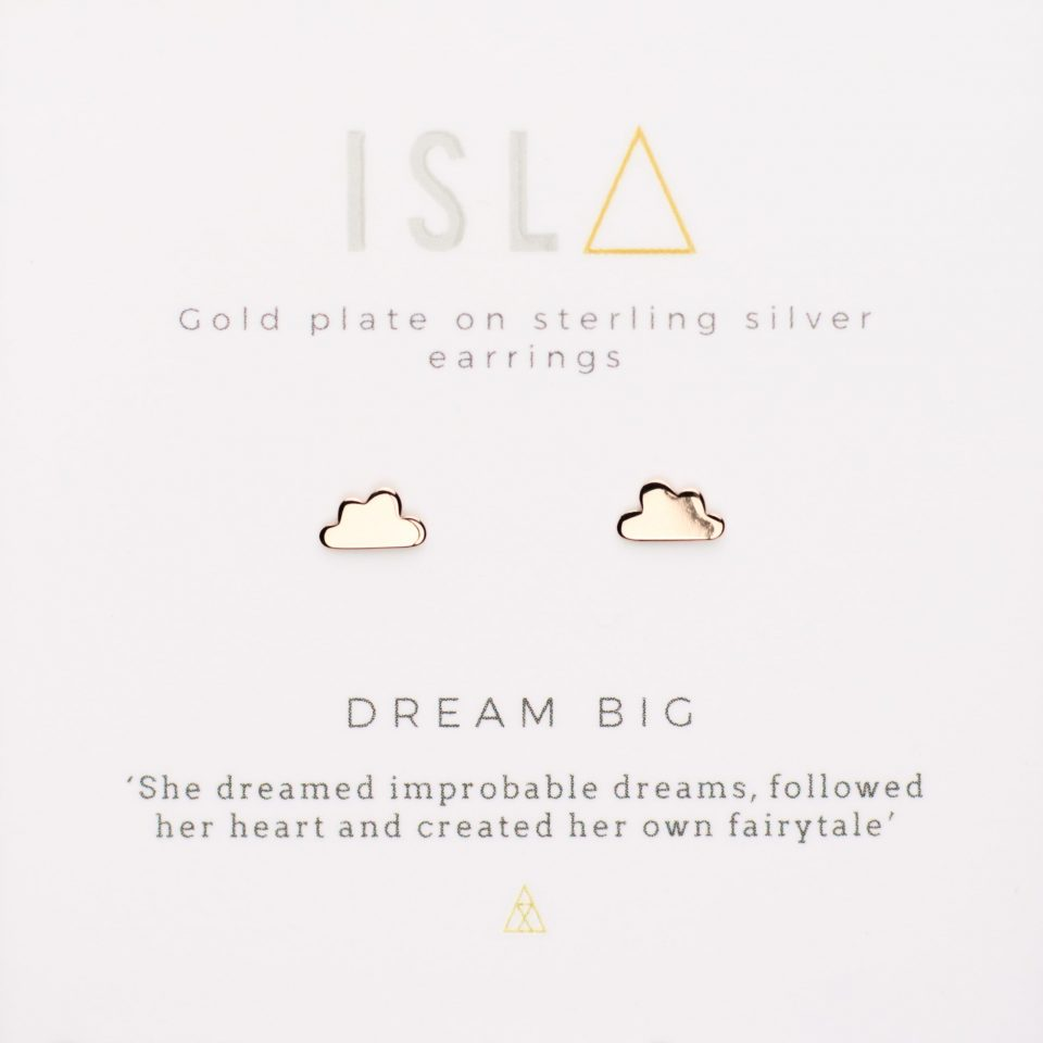 Dream Big Rose Gold Plate on Sterling Silver Earrings