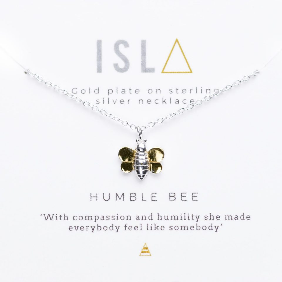 Humblebee Gold Plate on Sterling Silver Necklace