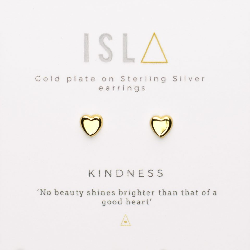 Kindness Gold Plate on Sterling Silver Earrings
