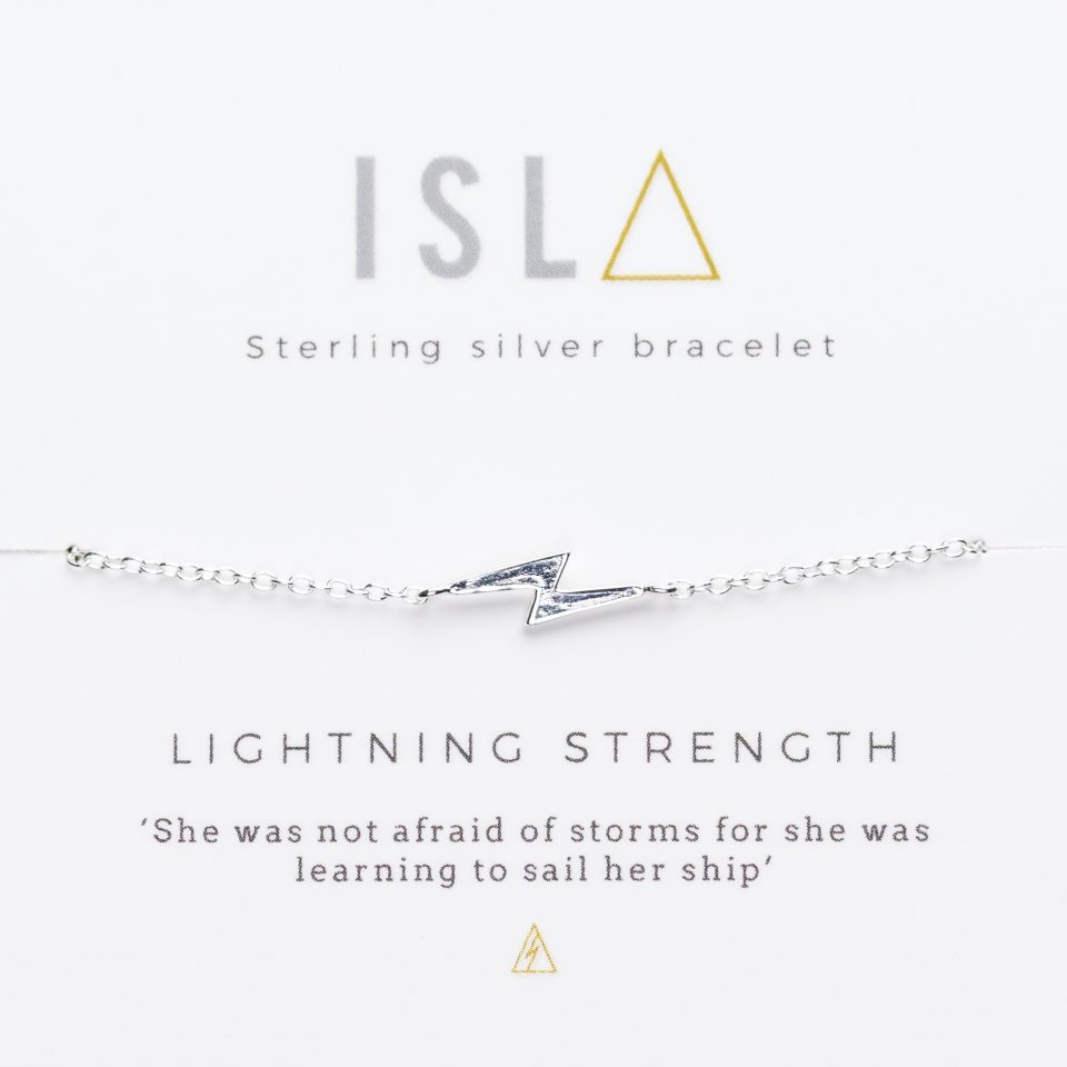 Lightning Strength Sterling Silver Bracelet
