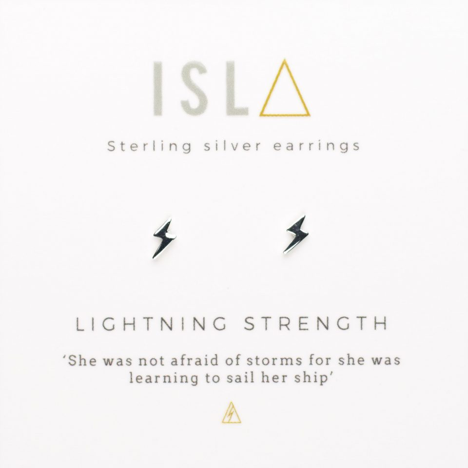 Lightning Strength Sterling Silver Earrings