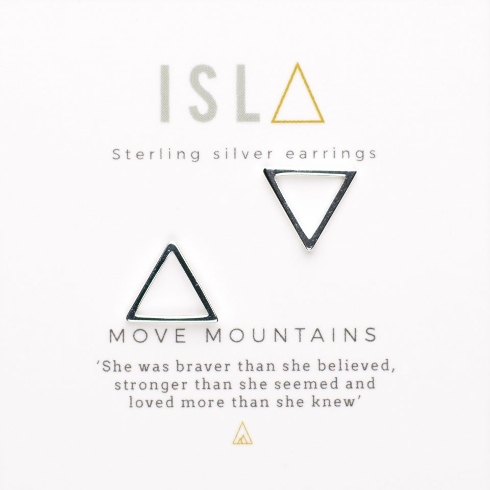 Move Mountains Sterling Silver Earrings