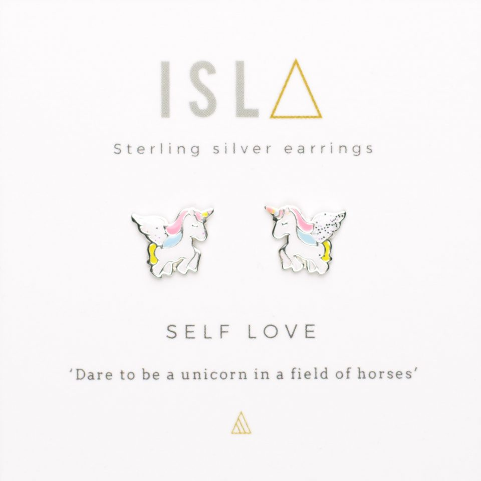 Self Love Sterling Silver Colour Earrings