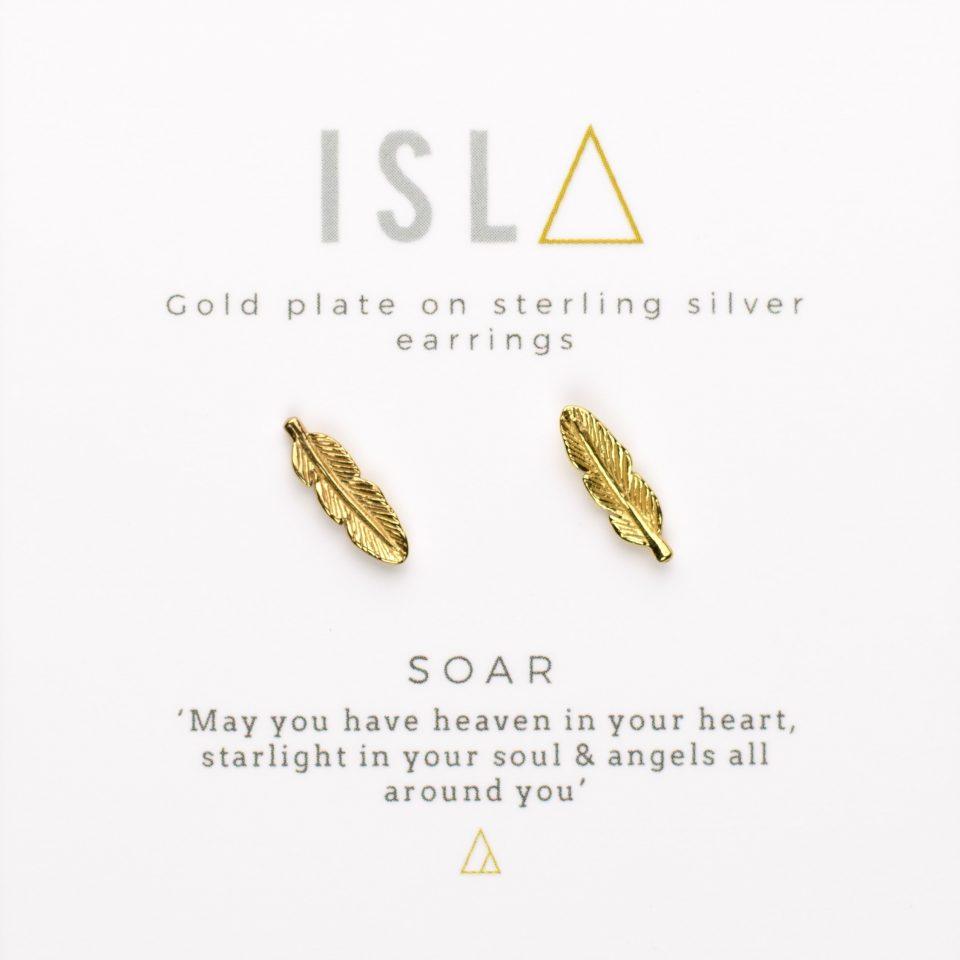 Soar Gold Plate on Sterling Silver Earrings
