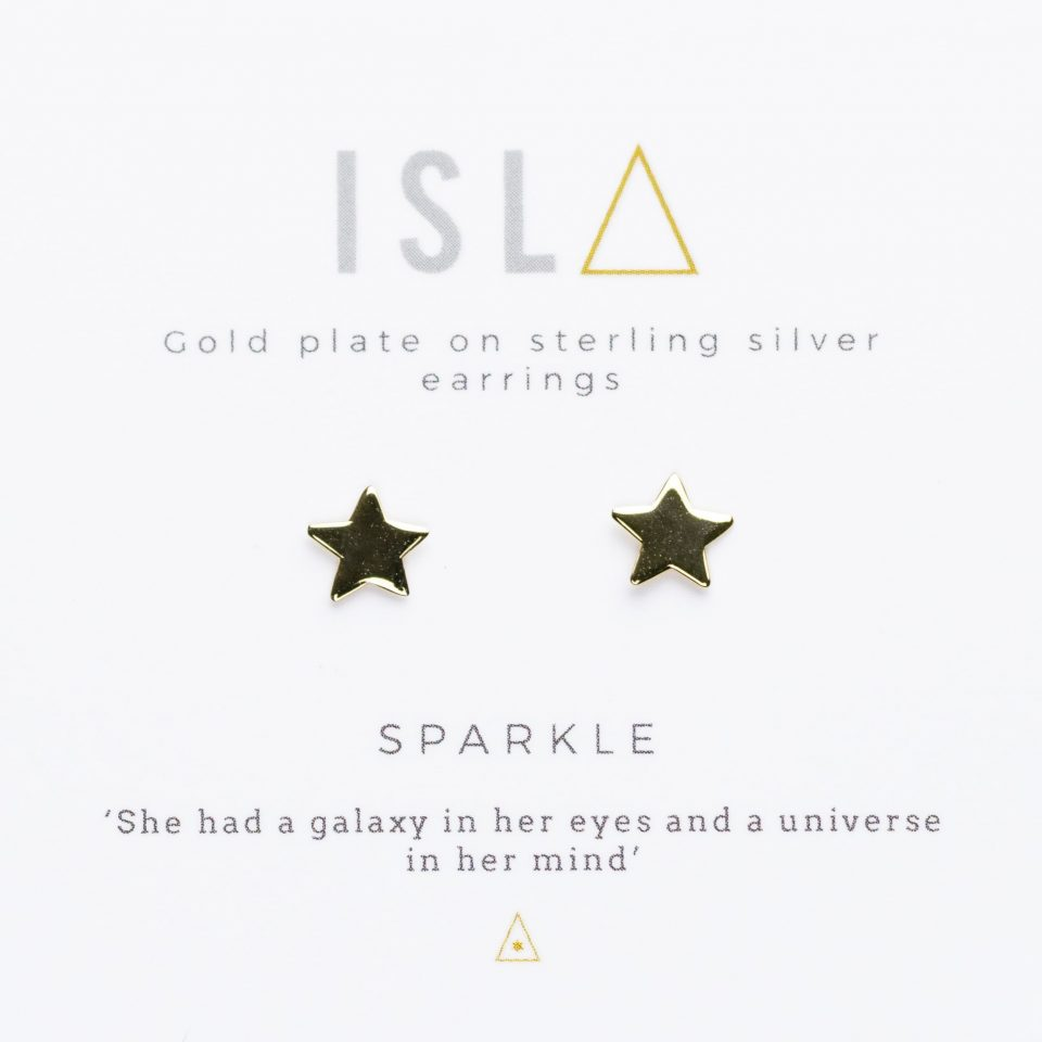 Sparkle Gold Plate on Sterling Silver Earrings