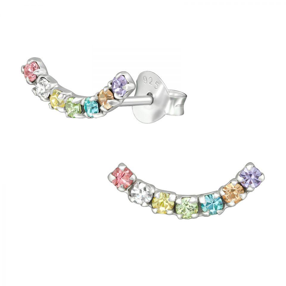Hope Crystal Rainbow sterling silver earrings