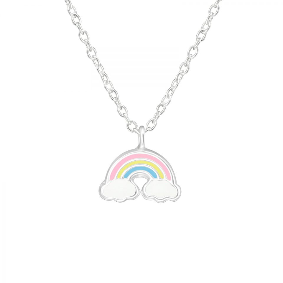 Hope Pastel Rainbow sterling silver necklace