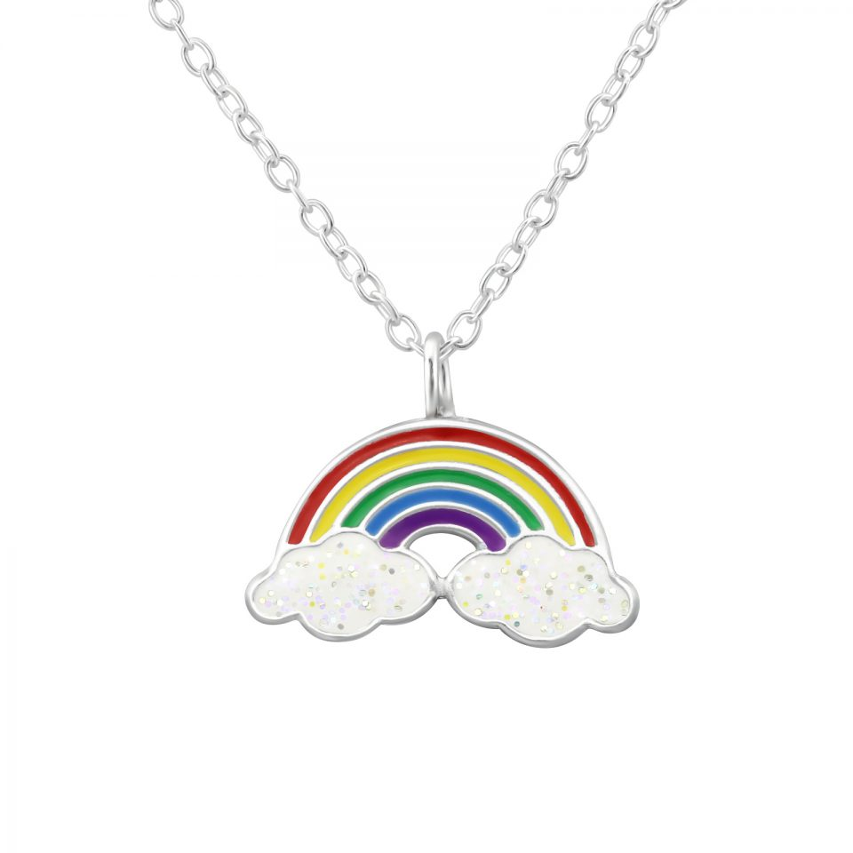 Hope Primary Rainbow sterling silver necklace