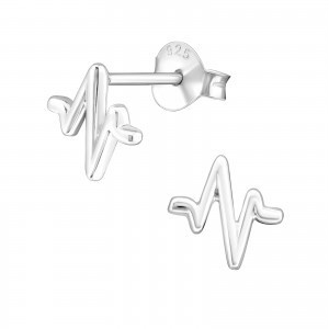 Beating Heart sterling silver earrings