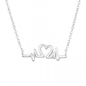 Beating Heart Sterling silver necklace