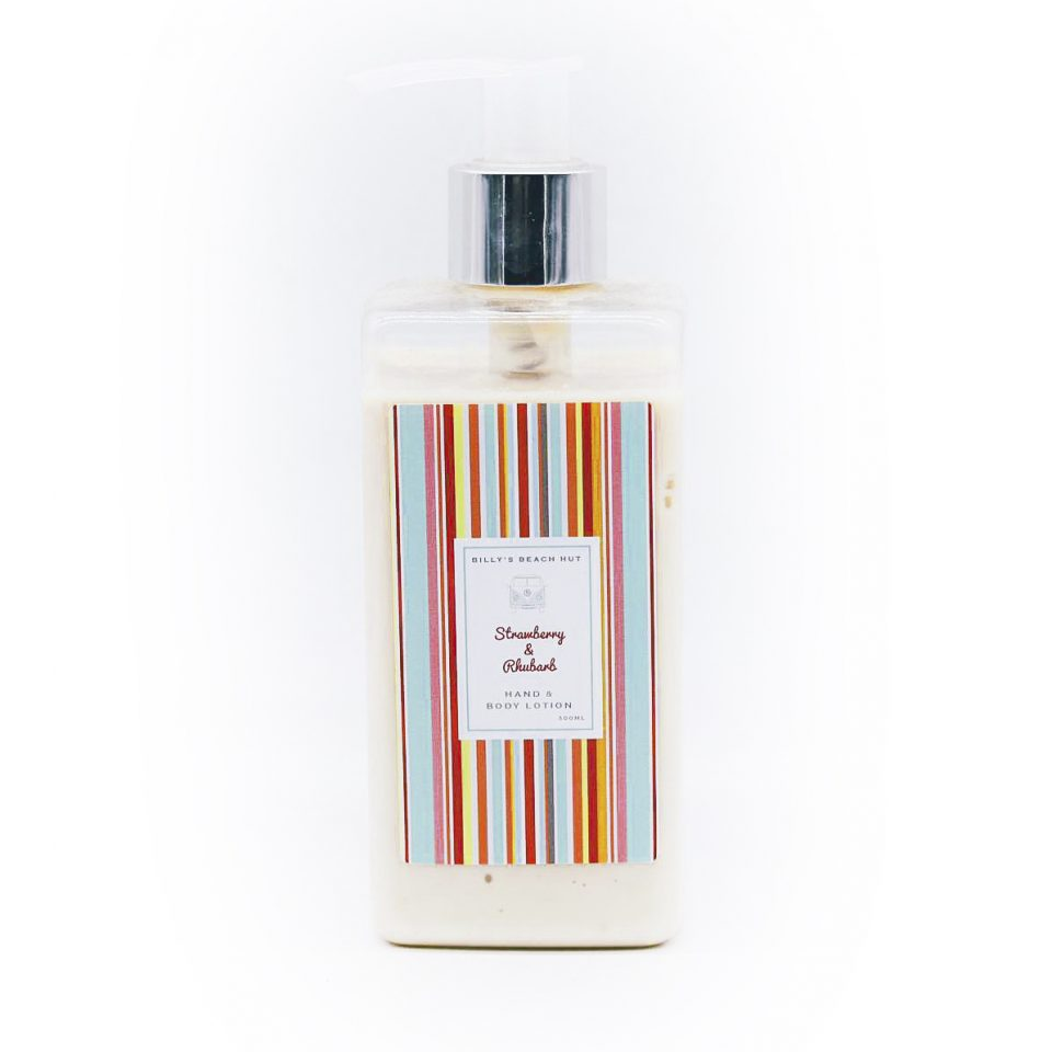 Strawberry & Rhubarb Hand & Body Lotion - Buy one get one half price