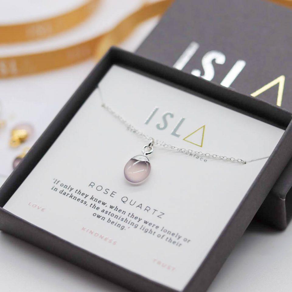 Rose Quartz Sterling Silver Necklace